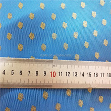 Elastic nylon Gold style dot mesh fabric tulle polyamide mesh fabric for lady dress
