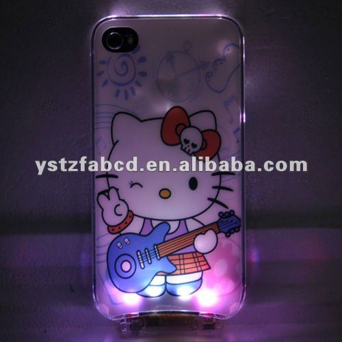 Colorful Shinning LED Glowing Hello Kitty Phone Cover