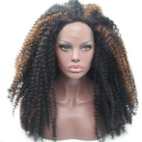 Sylvia Hair 100% High Quality Front Lace Synthetic Hair Wigs Tangle Free Shedding Free Baby Hair