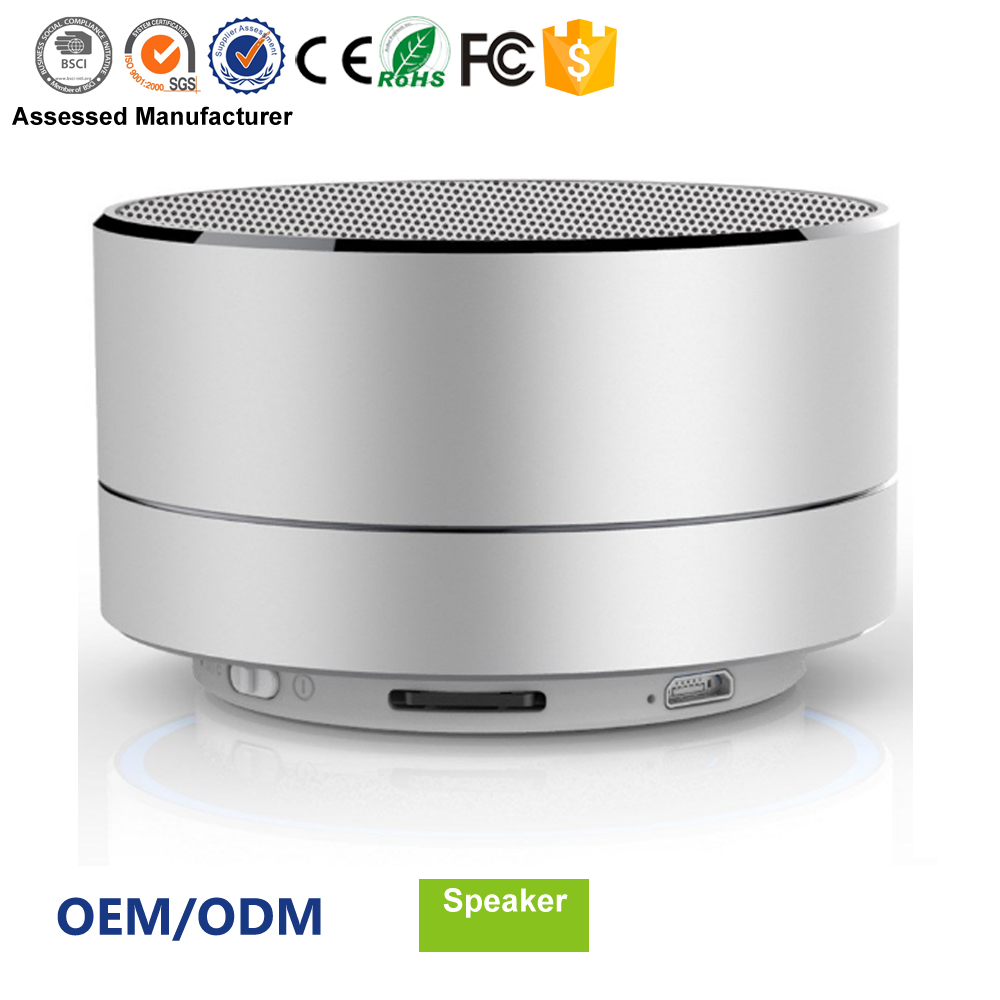 Dom Venda quente Logotipo Personalizado Mini Mi A10 Blue-tooth Speaker Com Rádio Fm