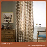 Latest Curtains DesignS Fashion Printed organza curtain fabric for home