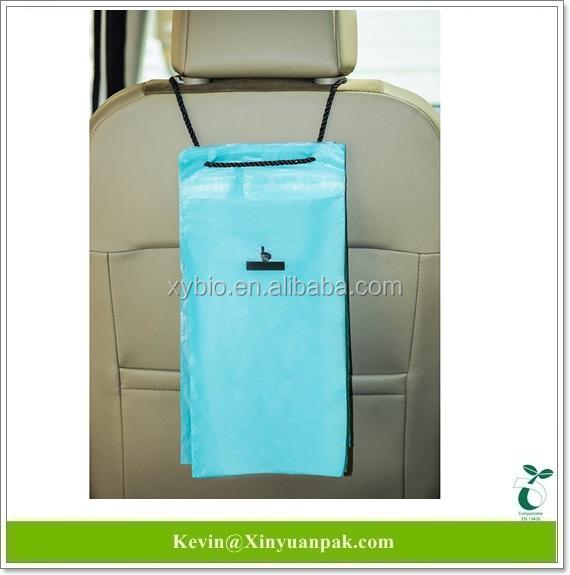 Corn Starch Made Biodegradable Disposable Car Trash Bagcar Rubbish Garbage Waste Bag