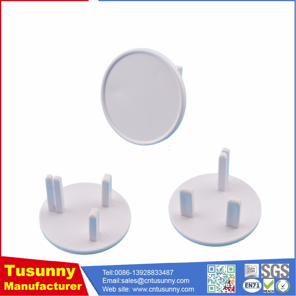 Plastic house-ware safety electric plug covers / outlet protectors for baby proof