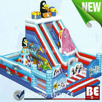 Inflatable Penguin Slide Playground, Inflatable Penguin Fun City