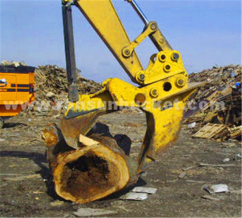 Customized size manufacturer Varied Design HARDOX-500 excavator attachment tree shear for sale