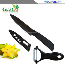 2 sets black zirconia ceramic knives combination Ceramic peeler ABS handle ceramic knife set environmental protection