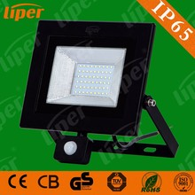 Liper Intelligent infrared body sensor motion detector induction IP65 SMD 50W led flood light with CE CB RoHs