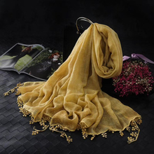 New Women's Cotton Muslim Headwear Long Scarf Hijab Islamic Shawls Arab Scarf Hijab Wrap