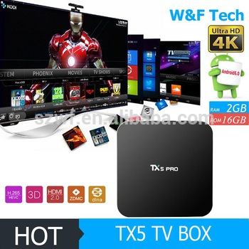 tx5 pro android 6.0 tv box amlogic s905x 4k kodi tv box tx5 pro set top tv box