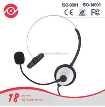 Yes Hope 2.5mm call center headset telephone headphone with Mic volume control for service center