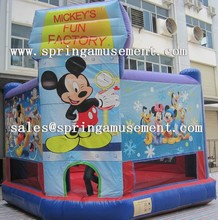 Latest hot sale Mickey Mouse theme printing inflatable bouncer, inflatable jumping castle, inflatable bouncy SP-PP051