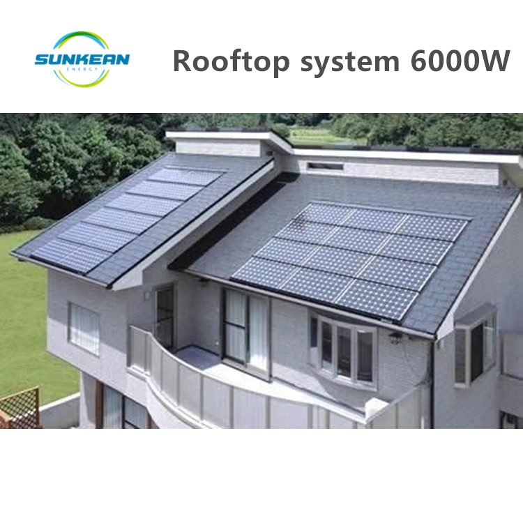 solar system 6000W electric generator solar / 6KW complete set solar panel system <strong>kit</strong> for villa