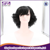 Lady short hair wig kinky curly wig synthetic hair lace front wig