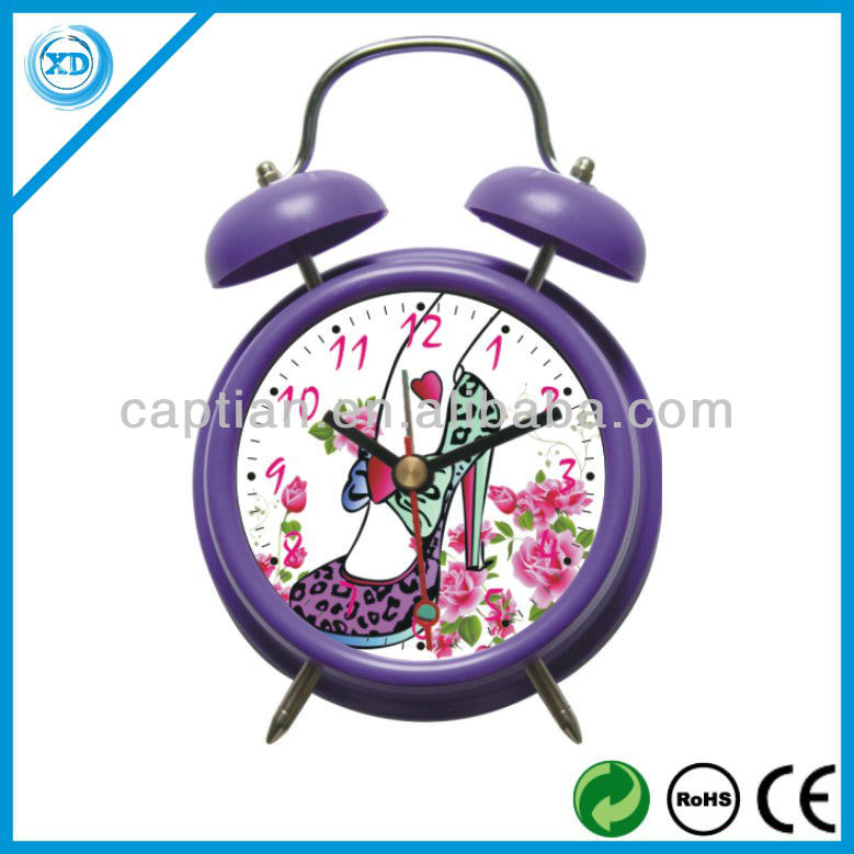 Europe modern design plastic table bell clock