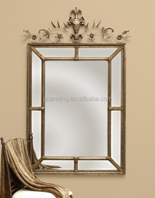 Antique royal craft square decorative wall mirror