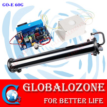 Water cooled enamel ozone generator tube for water treatment