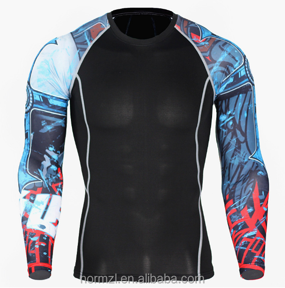 2017 high quality polyester men jogging compression wear