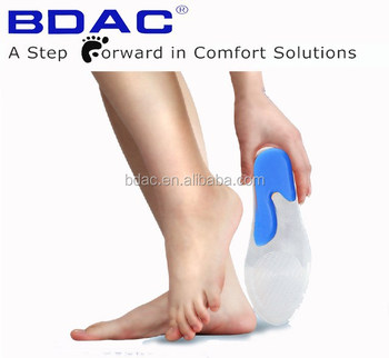 SynFit Orthotic Insole Silicone cushion shoe insert gel silicone insoles foot comfort