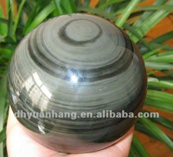 Fengshui hot natural cat's eye stone quartz crystal ball for gifts or collection,harmonious ball