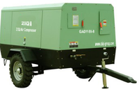 Mobile diesel driven rotary screw air compressor