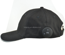 BTB-1 bluetooth plain baseball sun cap sport summer hat with earphone