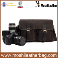 6915 Moshi High Quality Genuine Cowhide Leather DSLR Bag for Canon Sony Nikon