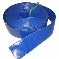low pressure blue PVC water layflat hose pipe