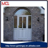 hot sale exteriror unbreakable pvc tempered glass villa main door with high quality