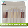 bristle oil drawing brush/lacquered wooden handle painting brush