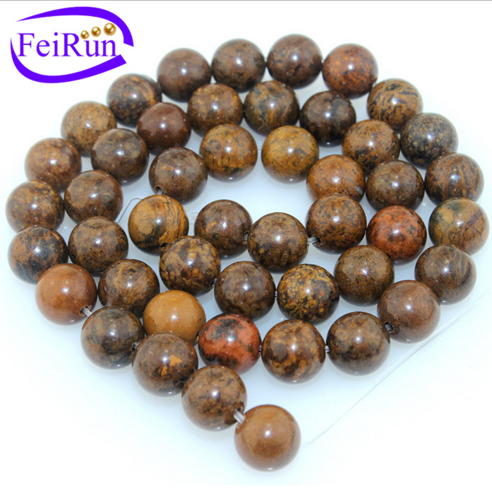 6mm natural glossy semi precious balls tigere stripe, round agate beads