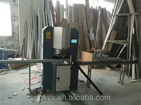 Photo frame wood cutter machine, cut 45-degree with 2 blades