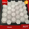 Football Shape Mix Hexagon Irregular Glass Mosaic Tile
