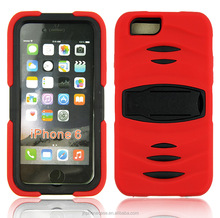 Military duty drop resistant stand rubberized shockwave case for iPhone 6 iPad