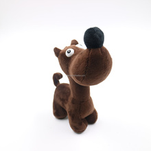 10cm brown color custom plush stuffed <strong>animal</strong> of your dog toy manufacturer