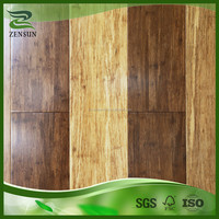 Natural and honey and coffee fixed color strand woven bamboo flooring