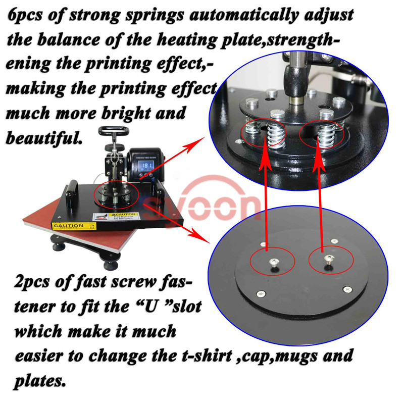 2017 Top Quality Manufacture 8 in1 multifunctional combo t shirt mug cap heat press machine