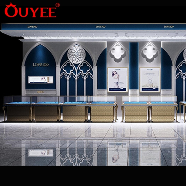 High End Store Furniture Wooden Jewelry Display Shop Decoration Interior Design Ideas Jewellery Shops