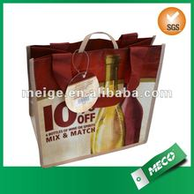 non woven 6 bottle wine tote bag for wholesale