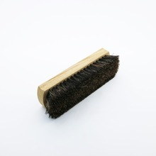 Wooden shoeshine brush with horse hair