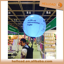 LED inflatable light backpack balloon for advertising / event