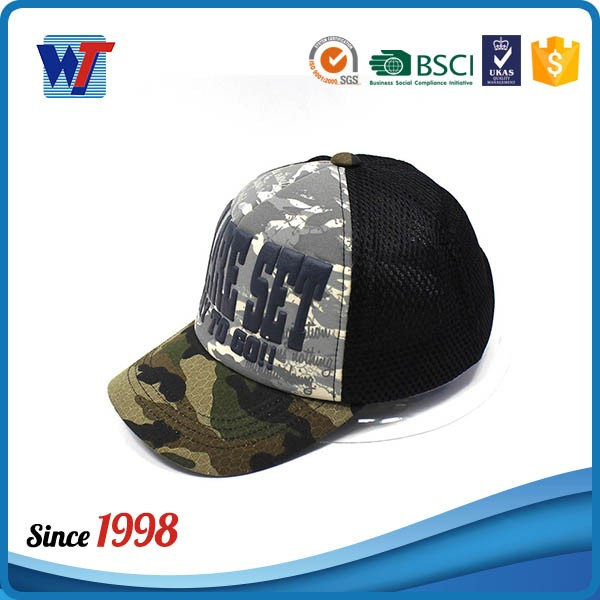 5 Panel Customized Cotton Military Youth Baseball Caps For Sale
