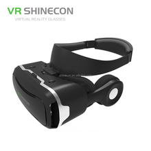 High Quality Wholesale Adjustable Focus vr glasses virtual reality 3D Movie Glasses Helmet with Headphone vr box virtual reality