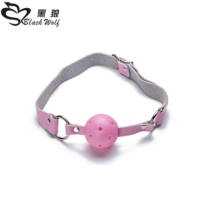 BDSM Fetish adult products sex toy balls metal ball tongue gag