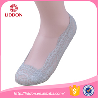 women girls no-slip lace socks, ladies cotton lace invisible no show socks