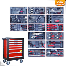POWERTEC 196pc Hand Tool Kit With Metal Cabinet