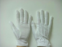 Cheap uniform parade china manufacturer work white softtextile knitted cotton glove