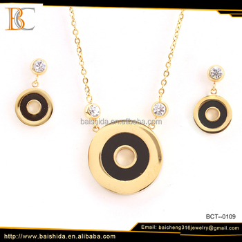 saudi gold plated eound shaped jewelry set price customized product