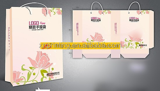 Custom colored luxury paper shopping bag