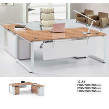 L-shaped steel office desk/ table with CE certification