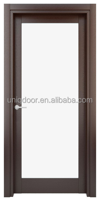 Full glass wooden door with casing for bedroom bathroom